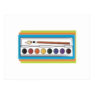 Watercolor Paint Postcard