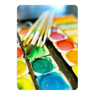 Watercolor Paint Set Card