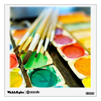 Watercolor Paint Set Wall Sticker