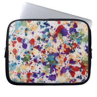 Watercolor Paint Splatter Custom Computer Sleeve