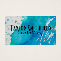 watercolor paint splatter splash business card