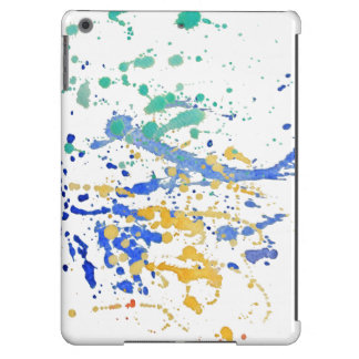 Watercolor Paint Splatters Case For iPad Air