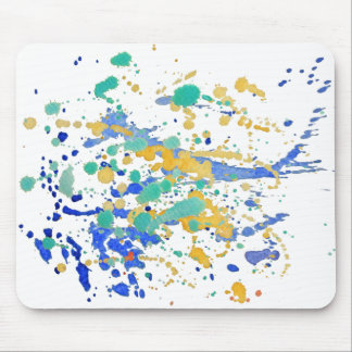 Watercolor Paint Splatters Mouse Pad