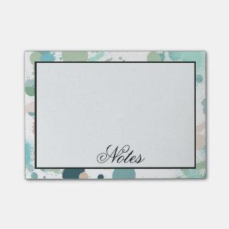 Watercolor Paint Splatters Post-it® Notes
