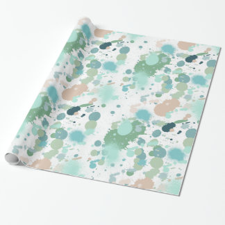 Watercolor Paint Splatters Wrapping Paper