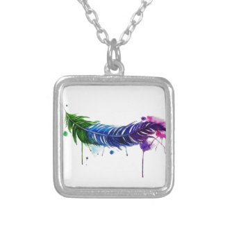 Watercolor Painted Feather Pendants