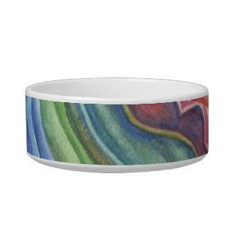 Watercolor painted pet bowl