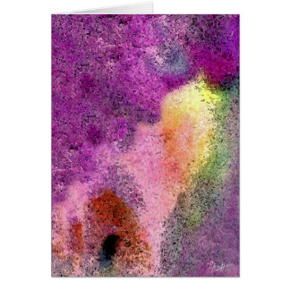 Watercolor painted Rice Paper Card