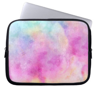 Watercolor painted Rice Paper Computer Sleeve