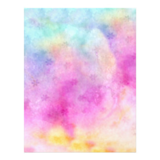 Watercolor painted Rice Paper Letterhead