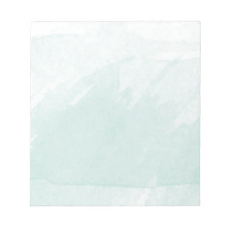 Watercolor Painting Blue Teal Mint Notepad