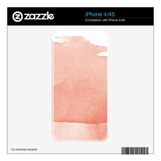 Watercolor Painting Coral Pink Ombre Modern Art iPhone 4 Skins