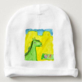 Watercolor Painting Dragon's Breakfast Baby Beanie
