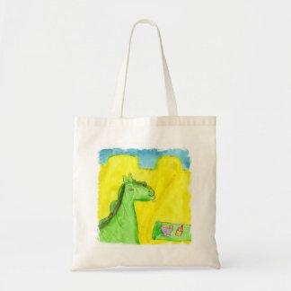 Watercolor Painting Dragon's Breakfast Tote Bag