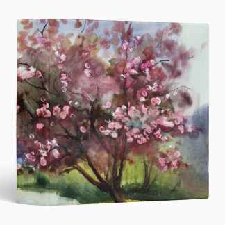 Watercolor Painting Landscape 3 Ring Binder