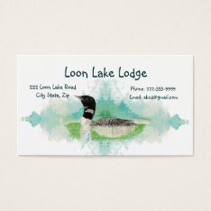 Watercolor Painting Loon, Wilderness Bird Business Card at Zazzle