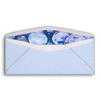 Watercolor Painting of Blue Plums Envelope