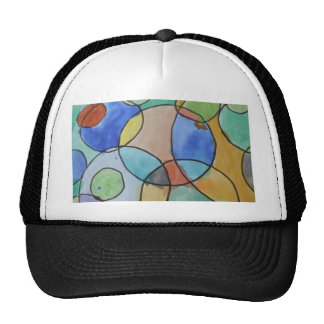 Watercolor Painting of Colorful Circles Art Trucker Hat
