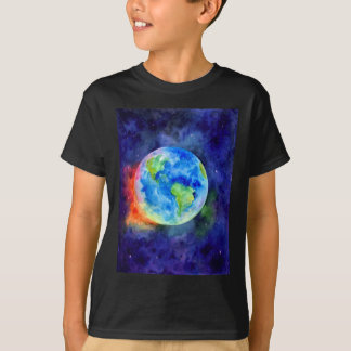 Watercolor painting of Earth T-Shirt