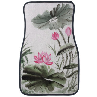 Watercolor Painting Of Lotus Flower 2 Car Mat