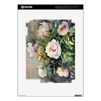 Watercolor Painting Of The Beautiful Flowers iPad 3 Decals