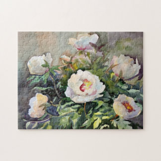 Watercolor Painting Of The Beautiful Flowers Puzzles