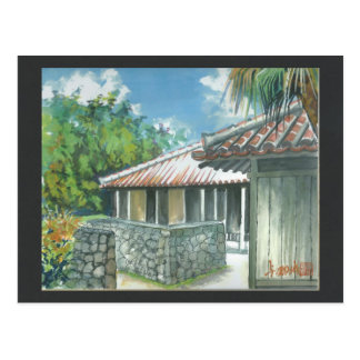 Watercolor Painting Postcard Okinawa Ishigaki