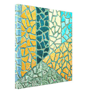 Watercolor Painting Stone Mosaic + your ideas Canvas Print