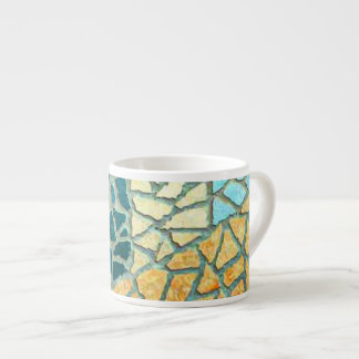 Watercolor Painting Stone Mosaic + your ideas Espresso Cup