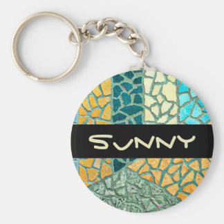 Watercolor Painting Stone Mosaic + your ideas Keychain