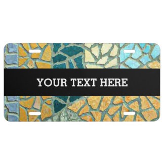 Watercolor Painting Stone Mosaic + your ideas License Plate
