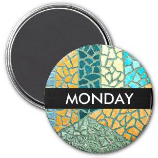 Watercolor Painting Stone Mosaic + your ideas Fridge Magnet