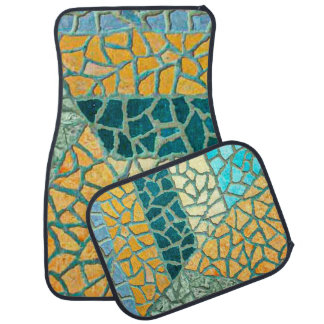 Watercolor Painting Stone Mosaic + your ideas Car Mat