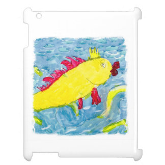 Watercolor Painting with Golden King Fish iPad Covers