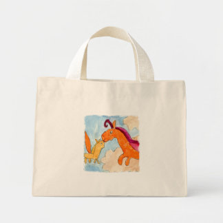 Watercolor Painting with Pegasus and his Foal Mini Tote Bag