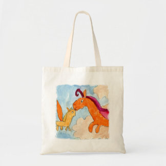 Watercolor Painting with Pegasus and his Foal Tote Bag