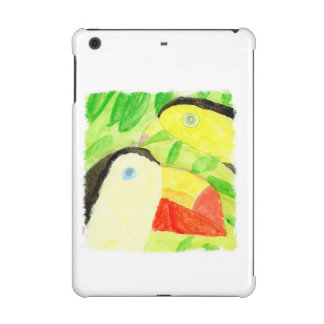 Watercolor Painting with Toucan Bird Couple iPad Mini Case