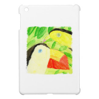 Watercolor Painting with Toucan Bird Couple iPad Mini Cover