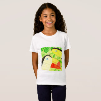 Watercolor Painting with Toucan Bird Couple T-Shirt