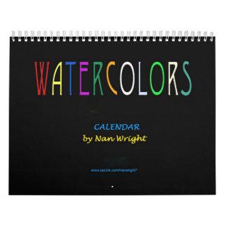 Watercolor Paintings Calendar
