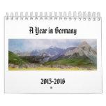 Watercolor paintings of German landscapes Calendars
