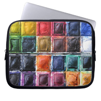 Watercolor Paints Laptop Cover for Art Students Computer Sleeve