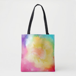 Watercolor Paints, Multicolored Tote Bag