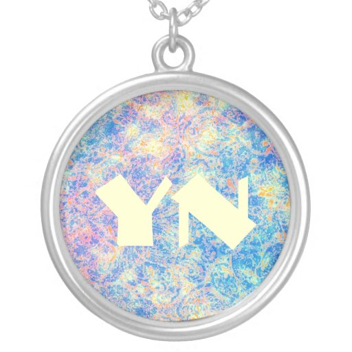Watercolor Paisley monogram Personalized Necklace