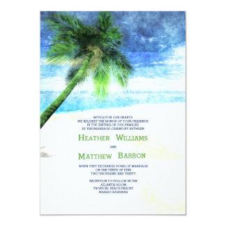 Watercolor Palm Invitation