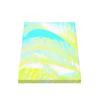 Watercolor palm leaf canvas wrap