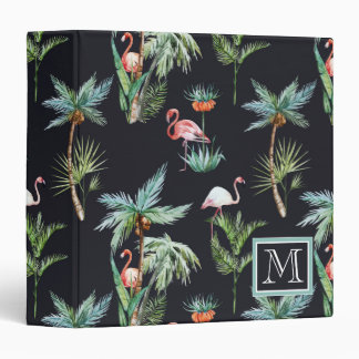 Watercolor Palm Pattern | Add Your Initial Binder