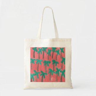 Watercolor Palm Tree Pattern Tote Bag