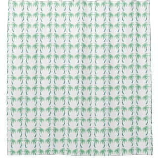 Watercolor Palm Trees Shower Curtain