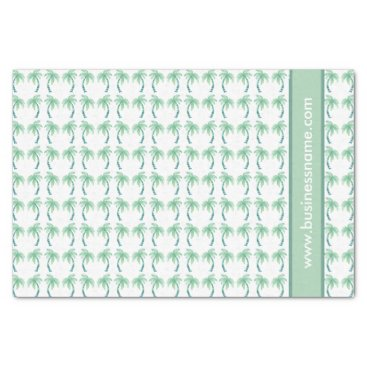 Professional Business Watercolor Palm Trees Tissue Paper